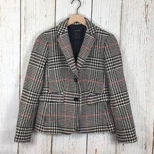 Talbots Wool Blend Houndstooth Blazer